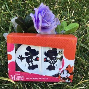 Minnie and Mickey Mouse 2 pcs trinket tray